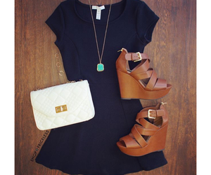 accessories, fashion, and little black dress image