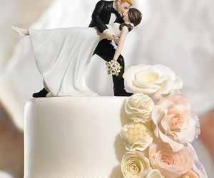 wedding, cake, and bride image