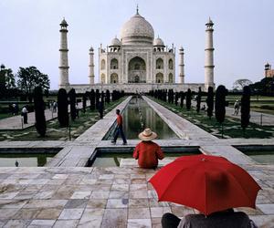 india, red, and umbrella image