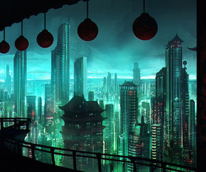 cityscape, neo hong kong, and concept art image