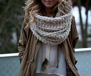 fashion, scarf, and style image