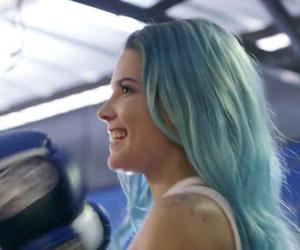 ashley, blue hair, and boxing image