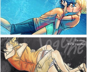 percy jackson, percabeth, and kiss image