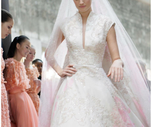 elie saab, wedding, and fashion image
