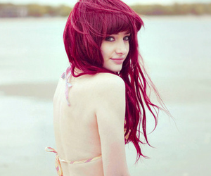 hair, red, and pretty image