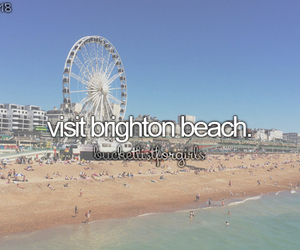 beach, brighton, and bucketlist image
