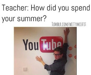 funny, youtube, and school image