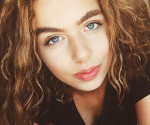 beauty, curls, and face goals image