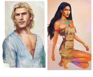 art, blonde, and brunette image
