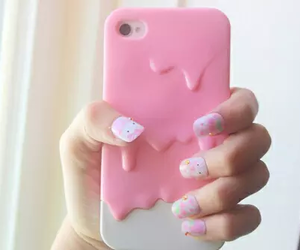 pink, iphone, and cover image