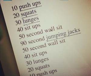 workout, fitness, and fitspo image