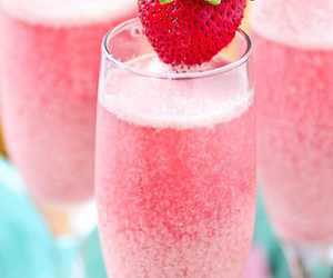 strawberry, drink, and pink image