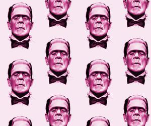 pink, wallpaper, and Frankenstein image