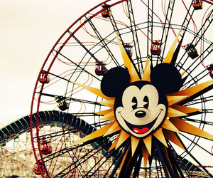 disney, ferris wheel, and mickey mouse image