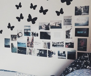 room, butterfly, and bedroom image