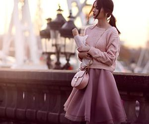 outfit, paris, and pink image