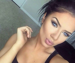 beauty, brunette, and lips image