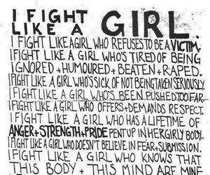 girl, girl power, and fight image
