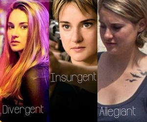 Shailene Woodley, prior, and allegiant image