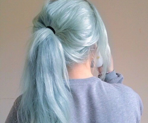 blue, grunge, and colored hair image
