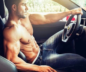 body, cars, and hunk image