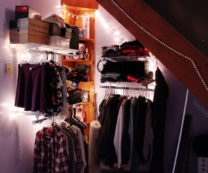 clothes, lights, and room image