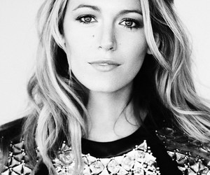 actress, black an white, and blake lively image