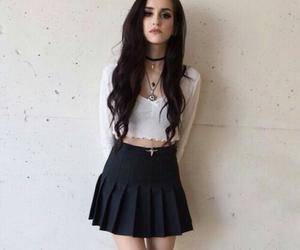 girl, grunge, and skirt image