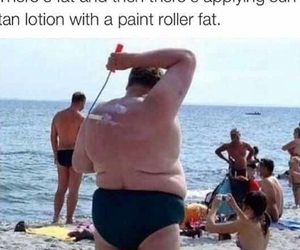 funny, fat, and summer image
