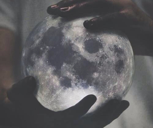 moon and hands image