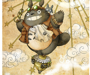 totoro, steampunk, and studio ghibli image