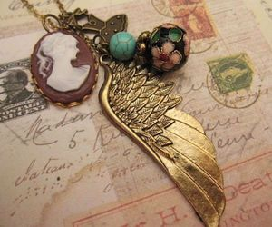 bijoux, dress, and necklace image