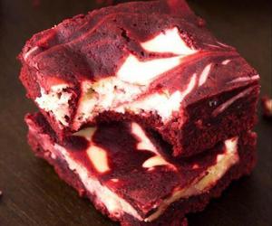 food, brownies, and red velvet image