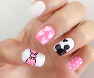black, pink, and mickey image