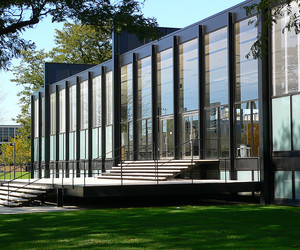 building, architecture, and Mies van der Rohe image