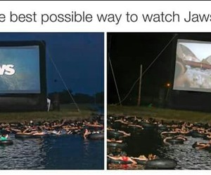 jaws, movie, and water image
