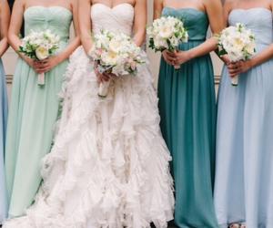 wedding, bride, and blue image