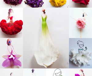 art, flowers, and fashion image