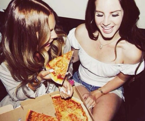 pizza, lana del rey, and food image