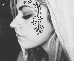 black and white, blonde, and face paint image