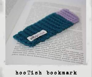 blue, crochet, and bookmark image