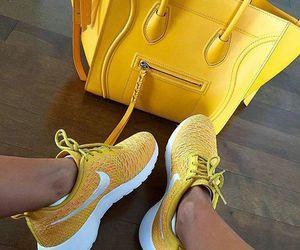 nike, yellow, and bag image