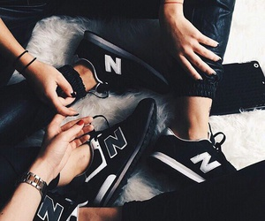 shoes, black, and new balance image