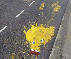 spongebob, funny, and art image