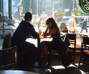 couple, starbucks, and coffee image