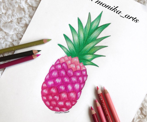 drawing, fruit, and draw image