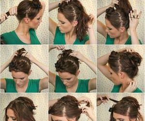 hairstyle, hair, and hair tutorial image