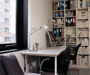 black, books, and desk image