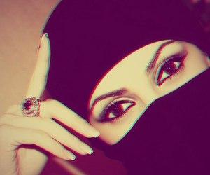 make-up, magic eyes, and nikab image