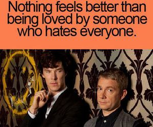 sherlock, hate, and quotes image